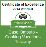 Winner: Certificate of Excellence 2014 | Casa Ombuto - Cooking Vacations Tuscany