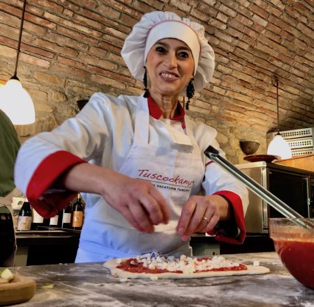 Alice Tuscookany chef at Casa Ombuto cooking school in Italy