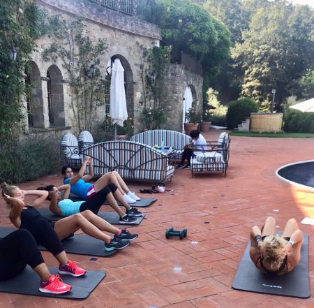Itinerary for the One week Italian Cooking, Fitness and Yoga at Torre del Tartufo pool before cooking classes in Tuscany