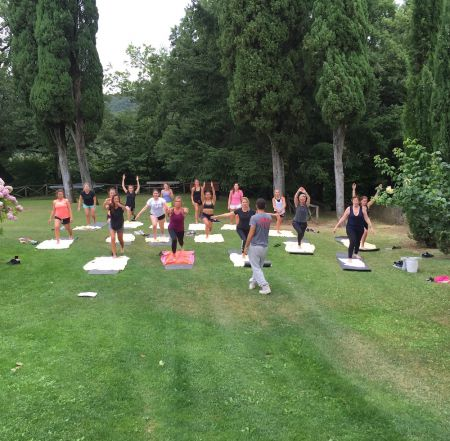 Yoga and fitness at Torre del Tartufo cooking school in Italy
