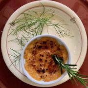 Learn to make Pumpkin and Parmesan cheese brûlée at Tuscookany cooking school in Tuscany