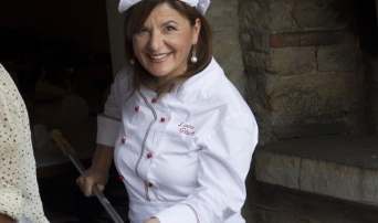 Chef Laura at Tuscookany Cooking Schools in Italy