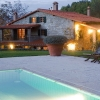 Casa Ombuto and pool in the evening