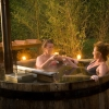 Hot tub at Casa Ombuto Italian cooking classes.