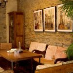 Bar at Torre del Tartufo cooking classes in Tuscany