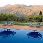 Torre del Tartufo pool and view