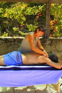Enjoy a massage at the pool area.