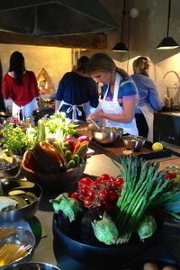 Bellorcia kitchen at the Tuscookany cooking classes in Italy.