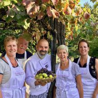 Figs and Grapes at Tuscookany with chef Franco