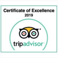 Tuscookany TripAdvisor Certificate of Excellence 2019