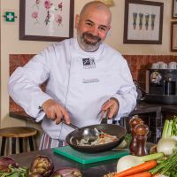 Tuscookany chef Franco at luxurious villa Torre del Tartufo
