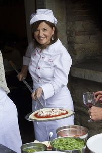 Tuscookany chef Laura at Bellorcia