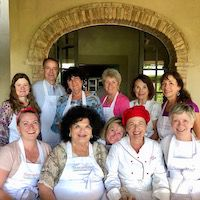Tuscookany students at Bellorcia with chef Laura