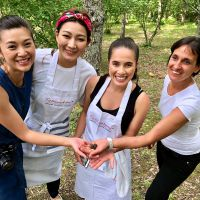 Tuscookany students on the truffle hunt at Torre del Tartufo
