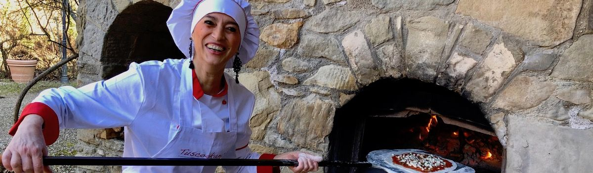 Chef Alice Pizza cooking lessons in Tuscany at Casa Ombutojpeg