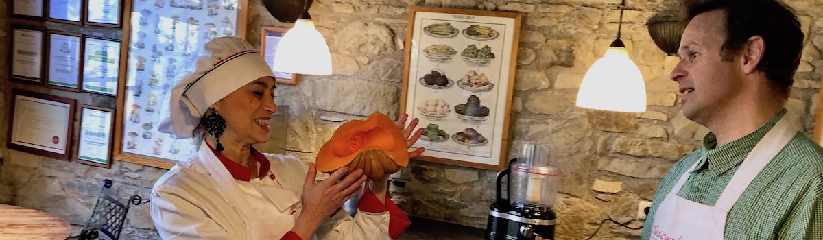 Chef Alice at the Mediterranean cooking classes in Tuscany Casa Ombuto
