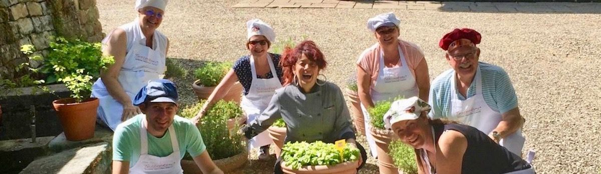 Chef Paola at the Tuscookany cooking classes in Tuscany Casa Ombuto