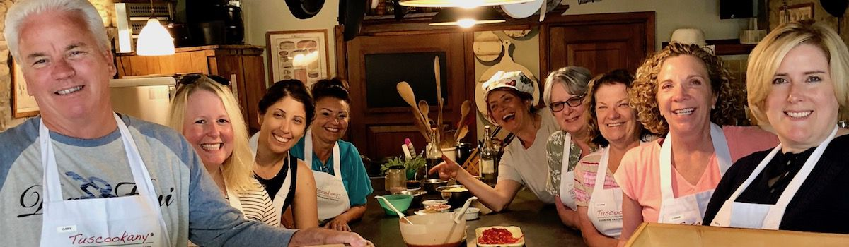 Have fun and learn to cook at the Tuscookany cooking school at Casa Ombuto
