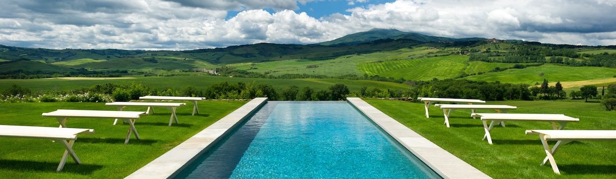 Tuscookany, Bellorcia heated swimming pool and view of Val d'Orcia
