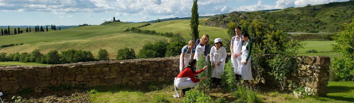 Tuscookany, Bellorcia herb garden for the cooking school in Italy