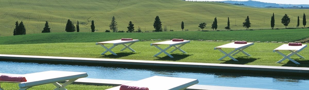 Tuscookany Bellorcia pool and view of Val d'Orcia