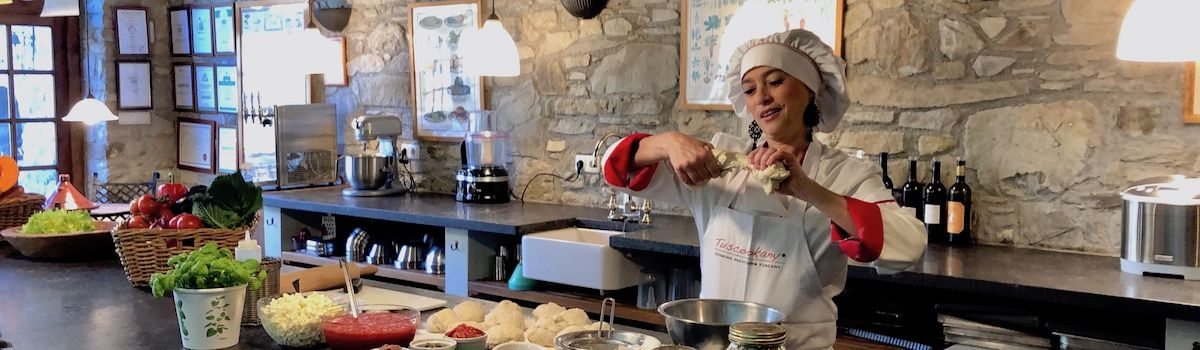 Tuscookany chef Alice at Casa Ombuto Mediterranean cooking classes in Tuscany