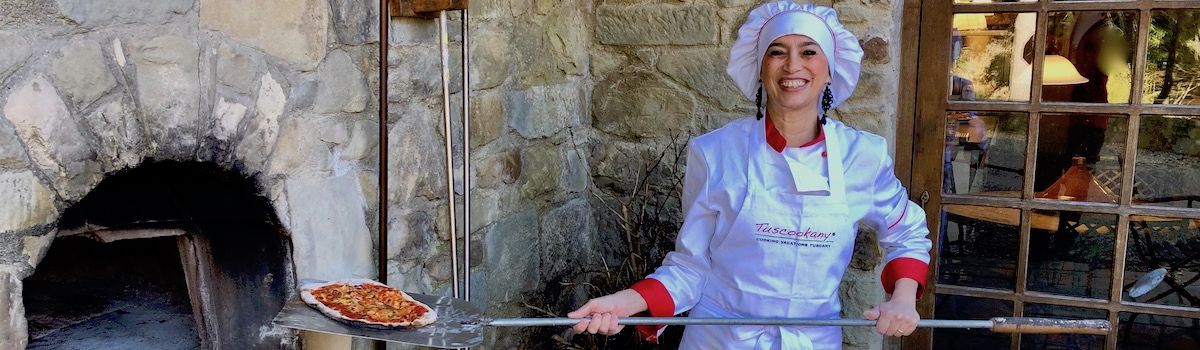 Tuscookany chef Alice at the Casa Ombuto cooking school in Italy