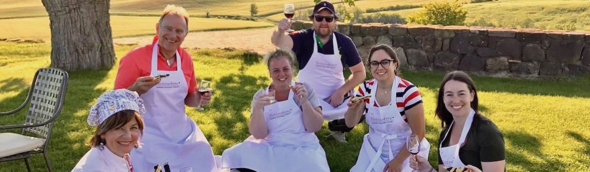 Tuscookany chef Laura at Bellorcia cooking school in Tuscany