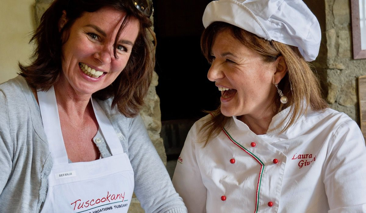 Tuscookany chef Laura at the cooking classes in Italy