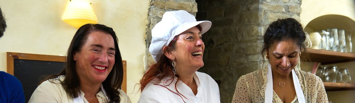 Tuscookany chef Paola at Casa Ombuto cooking school in Tuscany