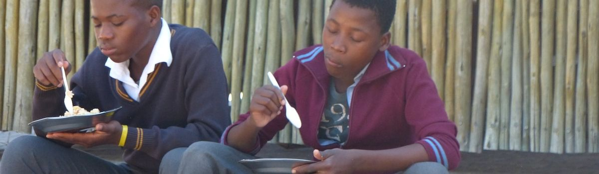 Tuscookany helps to feed the Bana Ba Letsatsi children
