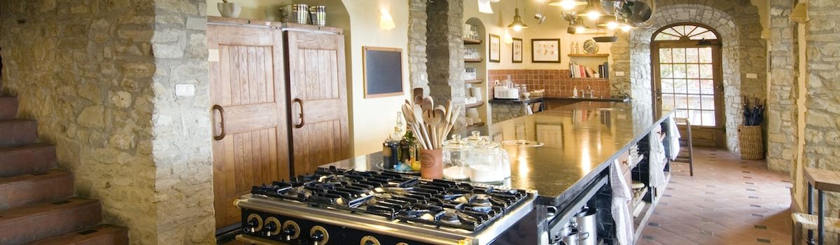 Tuscookany kitchen where we offer the cooking classes in Tuscany at Torre del Tartufo