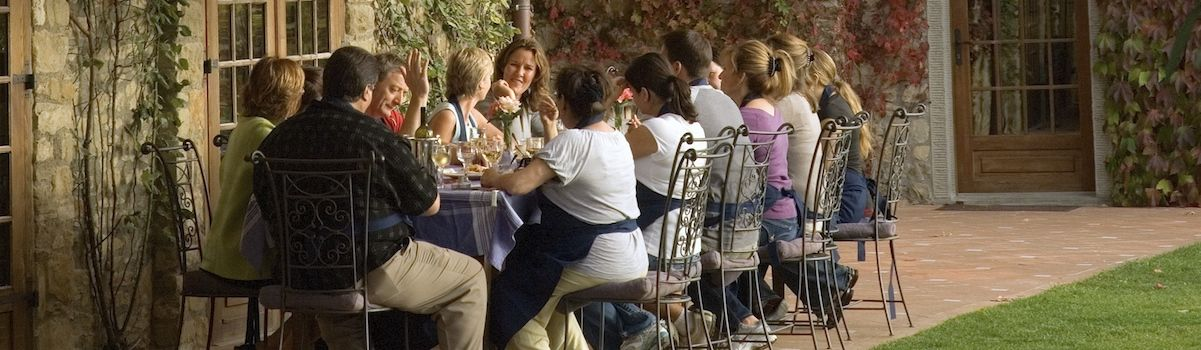 Tuscookany lunch al fresco at the cooking vacations Italy