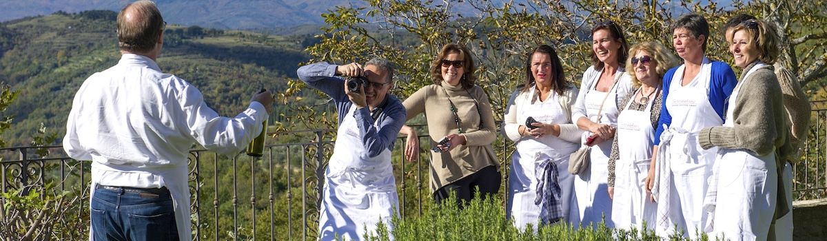 Tuscookany students on cooking vacations Tuscany at Torre del Tartufo