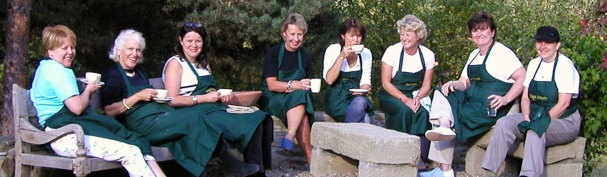 Tuscookany tea break at Casa Ombuto cooking school in Tuscany