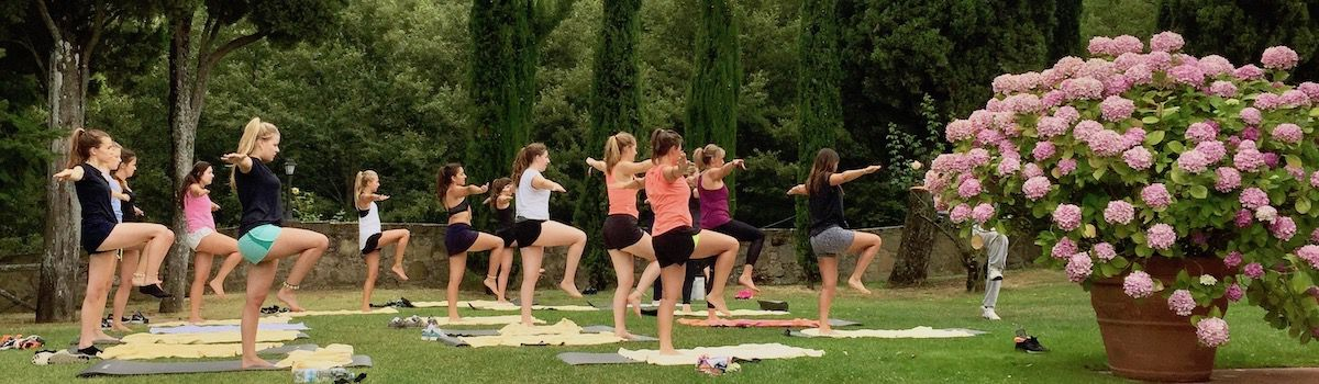 Yoga and fitness at the Tuscookany cooking classes in Italy, Torre del Tartufo
