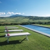 Bellorcia pool and view of the Amiata Mountain