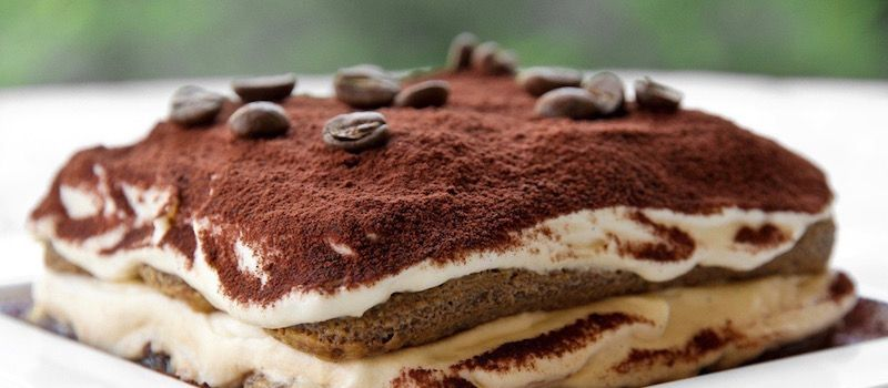 "Tiramisu, which means ""cheer you up"" for a happy end of any meal"