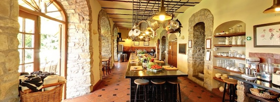Torre del Tartufo Kitchen where the Tuscookany cooking classes are given