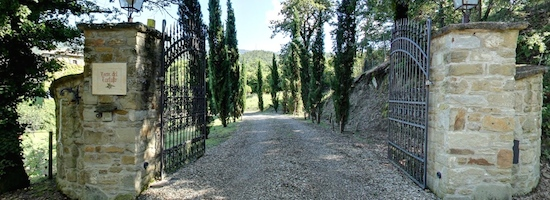 Torre del Tartufo entrance to the Tuscookany cooking course in Tuscany
